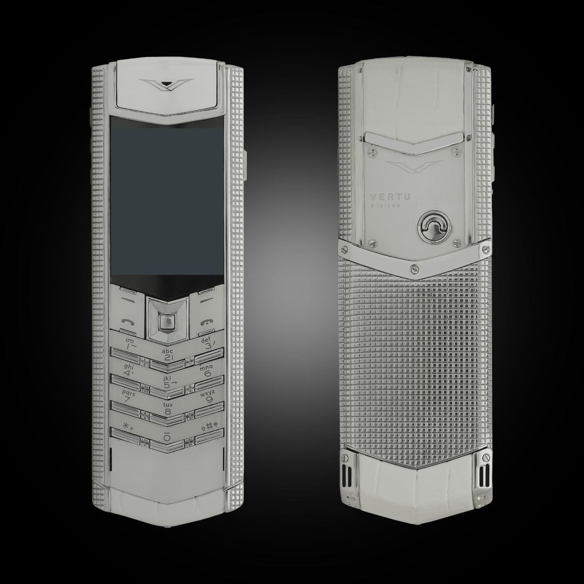 Vertu Signature S Clous de Paris White