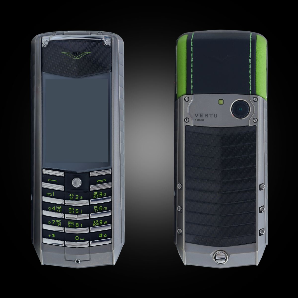 Vertu Ascent X Carbon Green